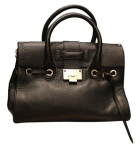 Jimmy Choo Leather Rosalie Satchel in Black