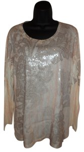 Chico's Sequins Top Pale Pink