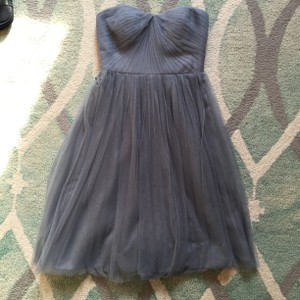 Adrianna Papell Slate Convertible Strapless Tulle Dress