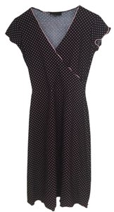 Huminska short dress Black and Pink Polka Dots Wrap on Tradesy