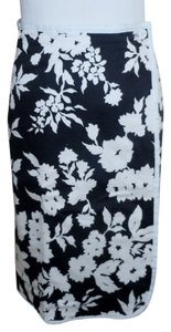 JG Hook Wrap Floral And Polka Dot Skirt Black & White