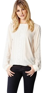 Forever 21 21 Love 21 Lady Lace Cream Button Top Ivory