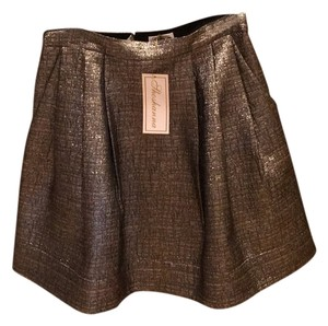 Shoshanna Mini Skirt Gold
