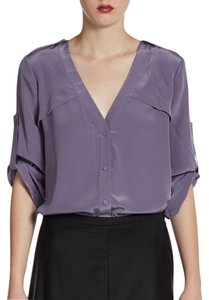 BCBGMAXAZRIA Drew Button Down Shirt Plum