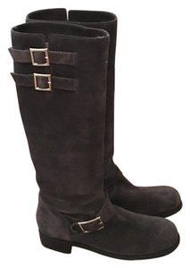 Jimmy Choo Knee High Suede Gray Boots