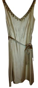 Ann Taylor Silk Shantung Pailettes Dress