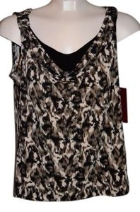 212 Collection Sleeveless Top Leopard Print/Brown/White/Black