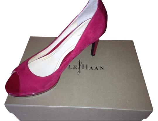 Cole Haan Patent Peep Toe Nike Air Red Pumps