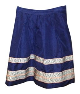 Lela Rose Skirt Navy blue and orange