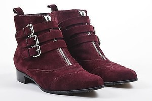 Tabitha Simmons Oxblood Suede Red Boots