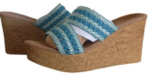 Sbicca Wedge Blue Sandals