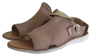 Free People Leather Taupe Sandals