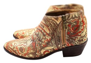 Very Volatile Ankle Fabric Perfect Gold Brocade Boots