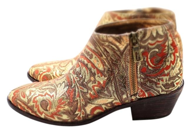 Item - Gold Brocade Los Angeles Boots/Booties Size US 7.5 Regular (M, B)
