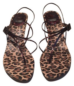 Stuart Weitzman Leopard base with brown Sandals
