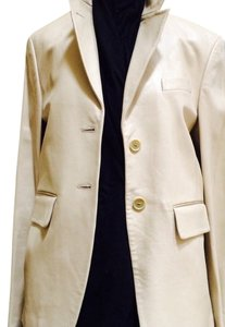 Richard Tyler Genuine Beige Leather Jacket