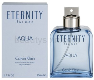 Calvin Klein ETERNITY AQUA by Calvin Klein, 6.7oz/200ml edt spray for men. *Brand New*