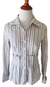 Kay Unger Button Down Shirt White
