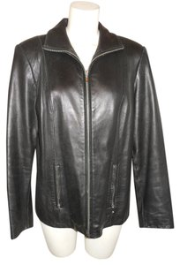 Valerie Stevens Lamb Leather black Leather Jacket