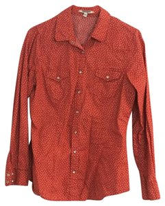 Daniel Rainn Button Down Shirt Orange cream