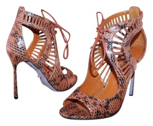 Sergio Rossi Sandal Stiletto Heel Luxury Exotic Brown Pumps