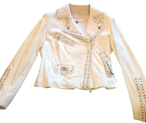 Rawlings White Leather Jacket