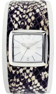 Ted Baker Ted Baker Square Snakeskin Bangle Watch