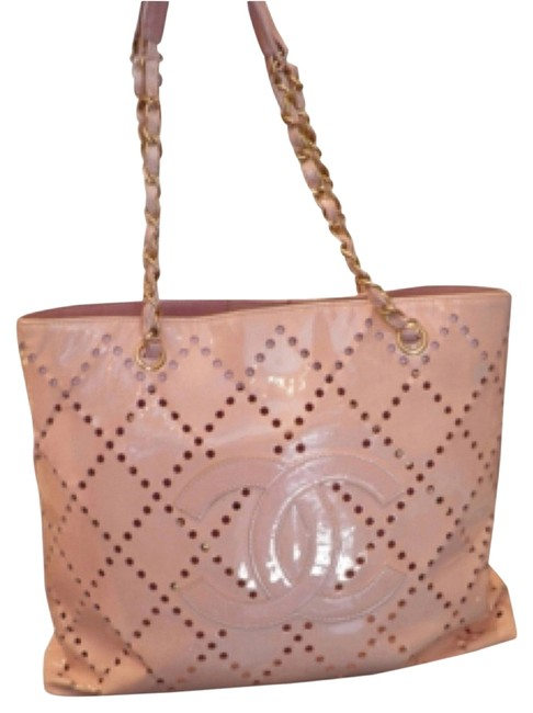 Item - Perforated Pink Patent Leather Tote