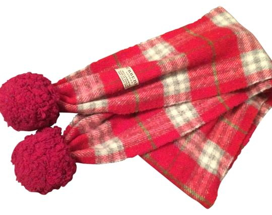 burberry pink red plaid pom pom wool scarf. Black Bedroom Furniture Sets. Home Design Ideas