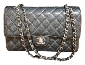 Chanel Medium Double Flap Caviar Shoulder Bag