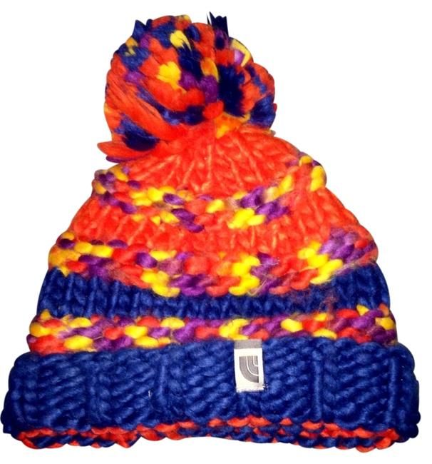 Item - Orange Blue Purple Nanny Knit Beanie Hat