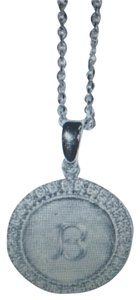 Anzie Silver Initial Necklace