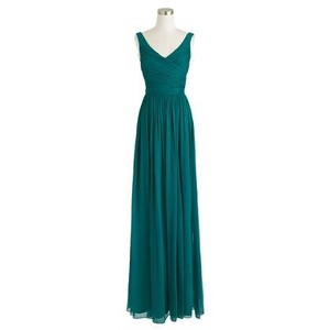 J.Crew Rich Peacock Heidi Long Dress