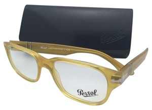 Persol PERSOL Rx-able Eyeglasses 3077-V 204 52-18 Miele Honey Yellow Frames w/Clear