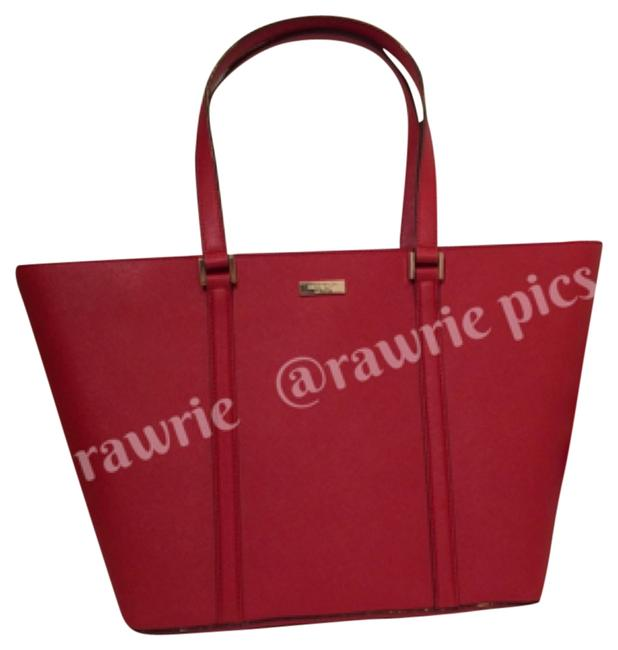 Item - Newbury Lane Large Dally Saffiano Tote Red Leather Weekend/Travel Bag