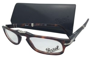 Persol New Folding PERSOL Rx-able Eyeglasses 2886-V 24 51-22 Havana Tortoise Frames w/Clear