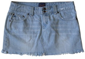 Aropostale Mini Denim Mini Skirt Blue