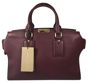 Burberry Tote Cliftin Satchel in Burgundy