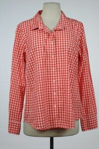 J.Crew J Crew Red Button Down Shirt Red, White