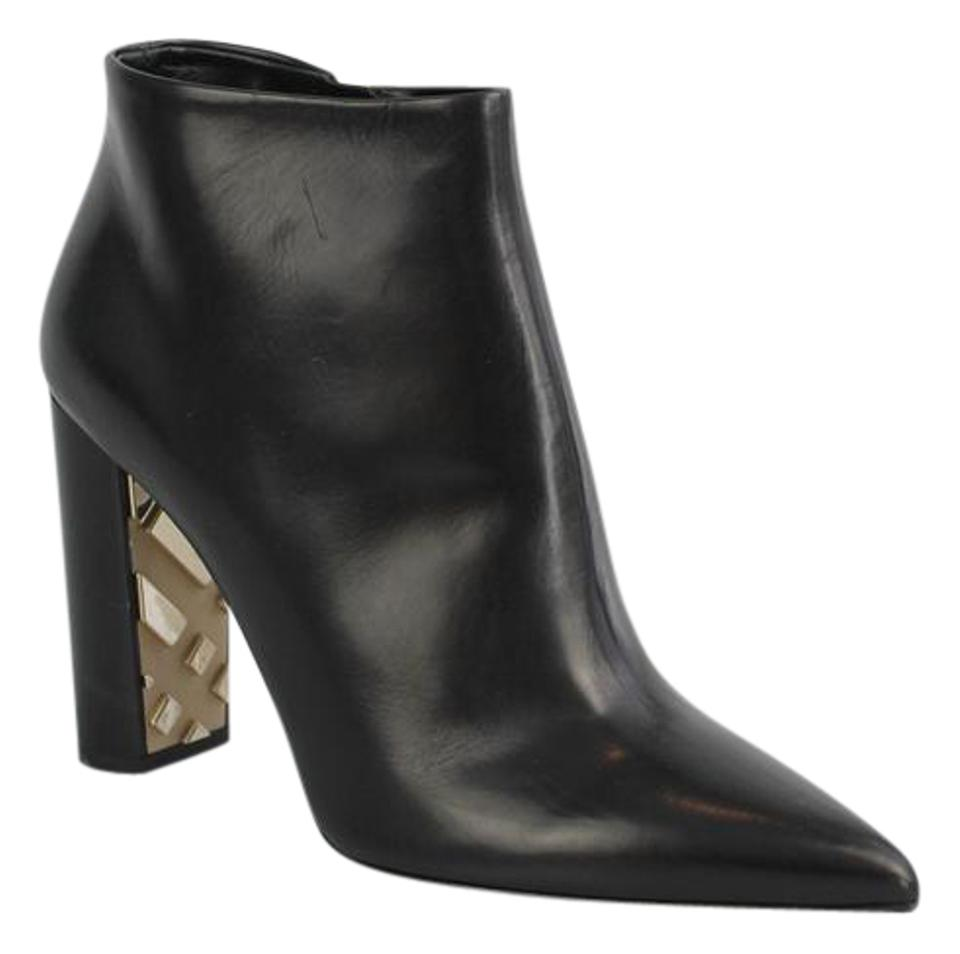 Burberry Bamburgh Ankle With Nova Check Gold Heel Black Boots on ...