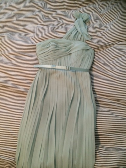 Item - Mint Green Silk Chiffon Satin Formal Bridesmaid/Mob Dress Size 0 (XS)