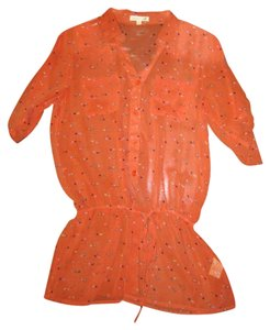 Only Mine Tunic Polka Dot Top Orange