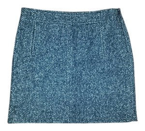 Banana Republic Wool Work Textured Nwt Fall Mini Skirt Black & White & Grey