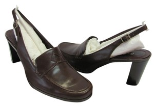 Etienne Aigner New Size 7.50 M (usa) Leather Brown Pumps
