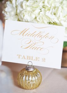 Gold Place Card Holders