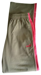 Puma Athletic Gym Polyester Athletic Pants Camel / Tan / Brown