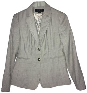 Signature by Larry Levine gray pinstripe pant suit