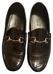 Gucci Leather Driver Loafer black Flats