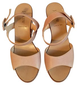 J.Crew Made In Italy Italian Leather Beige/tan Wedges