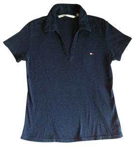 Tommy Hilfiger Collar Th Short Sleeve Cotton T Shirt Navy Blue